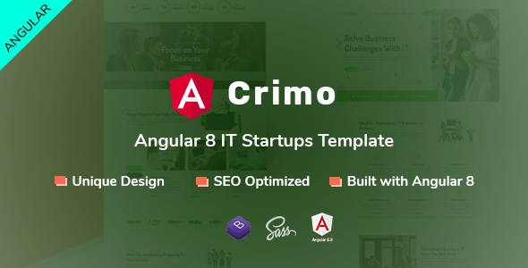 Crimo - Angular 8 IT Startups Template